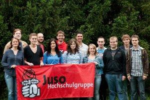 Die aktuellen KandidatInnen für die StuRa- Wahlen Quelle:  facebook.com der Jusos-HSG Tübingen