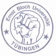 Die Faust, als Logo steht für den Widerstand gegen die Vereinnahmung durch die bestehenden Herrschaftsverhältnisse und für die Gestaltung einer Zukunft in selbstbestimmten, demokratischeren Strukturen. Quelle: http://www.asta.uni-tuebingen.de/asta/asta/gruppen/fsvv/