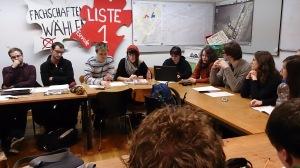 Sitzung des Studierendenrat. Foto: Constantin Pläcking
