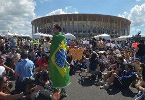 Demonstration gegen die WM in Brasília während der Confed Cup 2013. Bildquelle: Marcello Casal Jr./15.06.2013/ABr