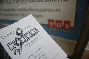 Flyer des AK Gleichfilm erzeugt Wiederstand bei der TOS - Foto: Pläcking