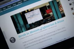 Ankündigung der Streiks vom Studierendenwerk - Foto: Screenshot